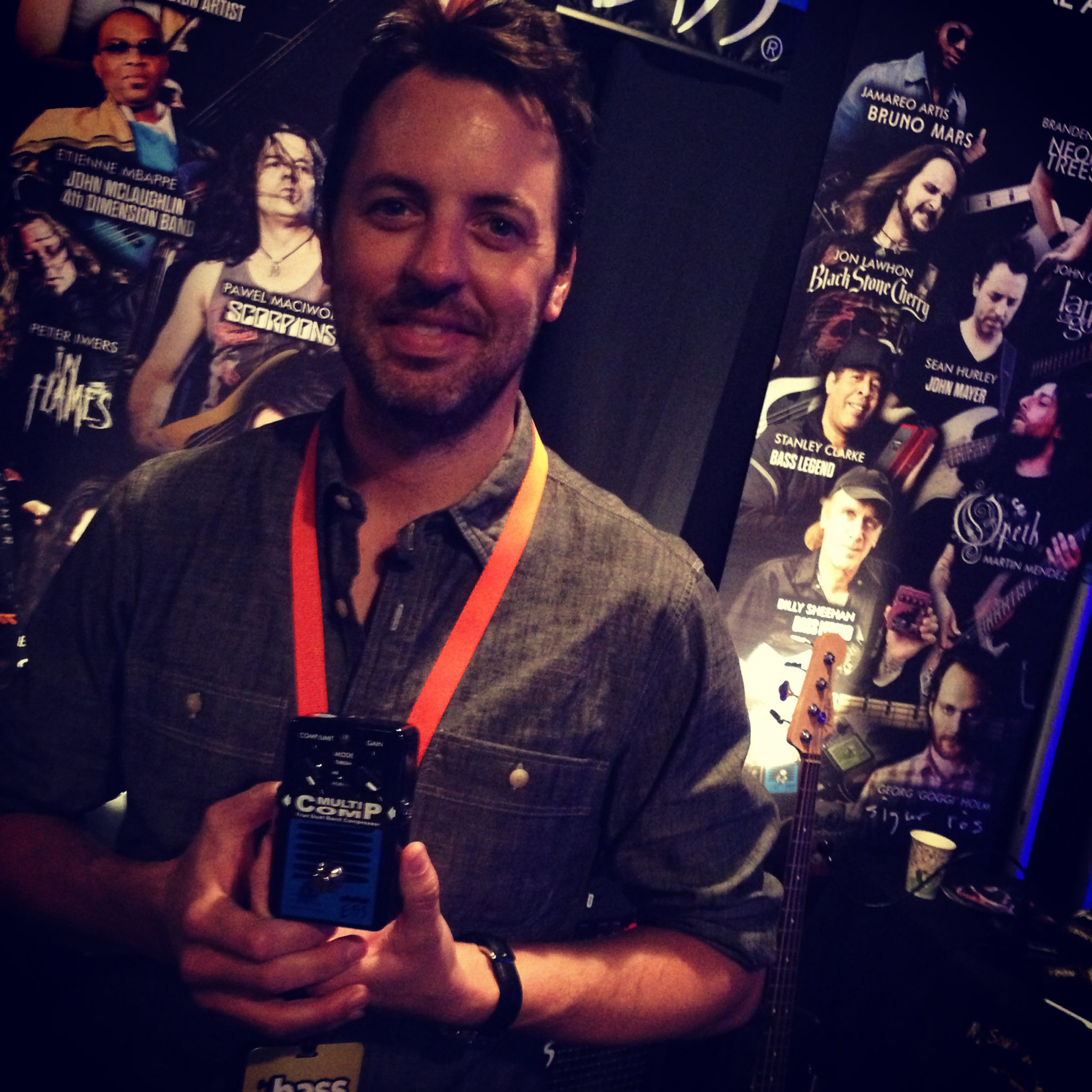 EBS Pedal Artist Sean Hurley got the new EBS MultiComp Studio Edition.